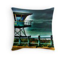Surf Life Saver Tower - HDR Throw Pillow