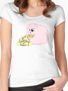 Fluffle's Element w/ Tacos Women's Fitted Scoop T-Shirt