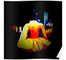 THE DANCE,  after midnight, ABSTRACT, modern Poster