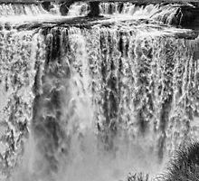 Iguazu Falls - From river level - monochrome by photograham