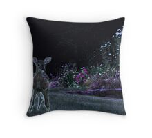 Visit to the Garden at Night Throw Pillow
