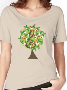Musical Cherry Notes Tree Women's Relaxed Fit T-Shirt