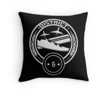 District 6 - Transportation Throw Pillow