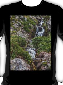 Waterfall in the mountains T-Shirt