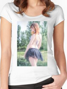 Glamour Women's Fitted Scoop T-Shirt