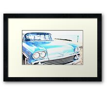 Bright Bleached Cadillac Hood Framed Print