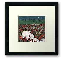 Annya's Dreaming - Aquatint Etching Print Framed Print