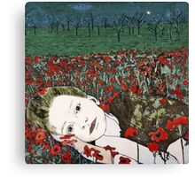 Annya's Dreaming - Aquatint Etching Print Canvas Print