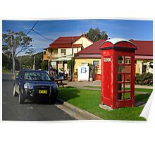 Old Phone Box - Central Tilba Poster