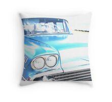 Bright Bleached Cadillac Hood Throw Pillow