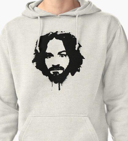Charles Manson Stencil Pullover Hoodie