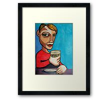 Late Latte Framed Print