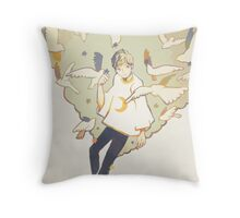 setting up the stars. Throw Pillow