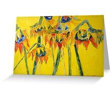 Caribbean Sunflowers Greeting Card