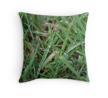 Dew on the grass Throw Pillow