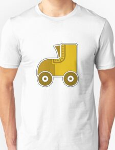 Yellow Rollerskate T-Shirt