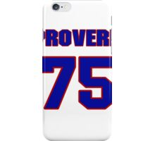 National football player Proverb Jacobs jersey 75 iPhone Case/Skin
