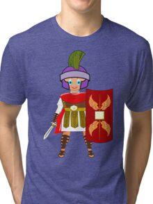 Roman Toon Boy 9 - no gladiator rebellion tonight Tri-blend T-Shirt