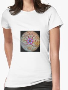 Chakra trees and dragonflies Womens Fitted T-Shirt