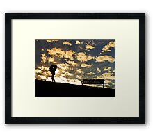 A Girl and her Dog... Framed Print