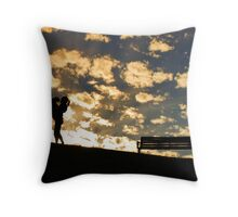 A Girl and her Dog... Throw Pillow