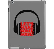 Let's make some noise - DJ headphones (black/red) iPad Case/Skin