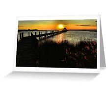 O.C. Sundown Greeting Card