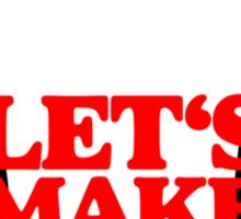 Let's make some noise - DJ headphones (black/red) Sticker