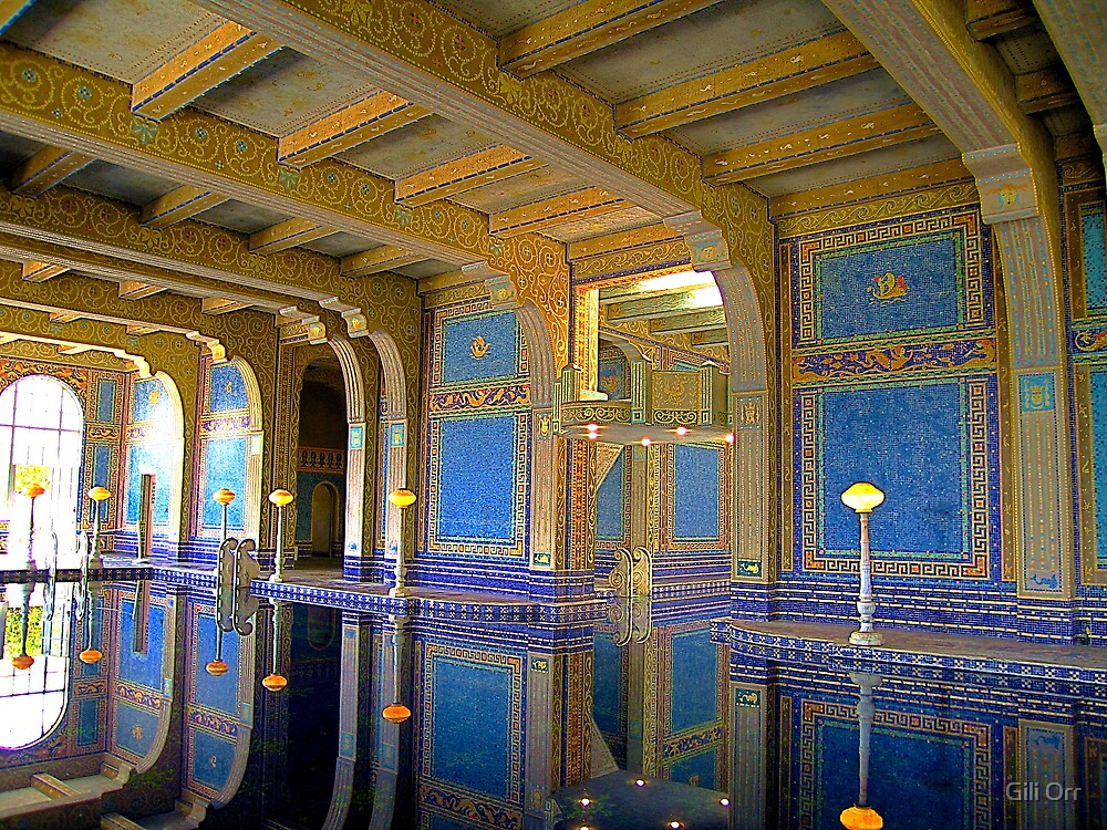 Hearst Castle's indoor pool  by Gili Orr