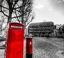 Red Post Box Phone box London by DavidHornchurch