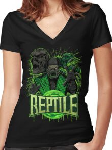 REPTILE Women's Fitted V-Neck T-Shirt
