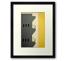 City shadows Framed Print