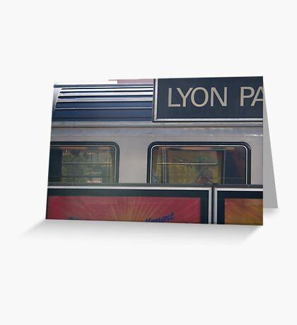 TGV - Paris/Valence #3 Greeting Card