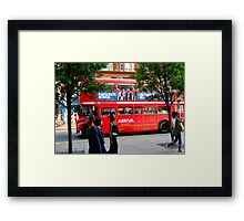 Oxford Street Bus Framed Print