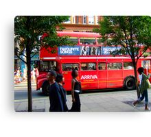 Oxford Street Bus Canvas Print