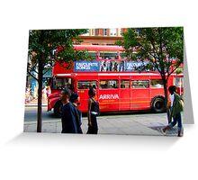 Oxford Street Bus Greeting Card