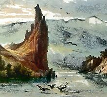 Citadel Rock, Upper Missouri from an aquatint by Karl Bodmer - all products by Dennis Melling