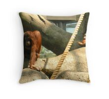 """""""how long do I have to stay in 'time out', mom?"""" Throw Pillow"""