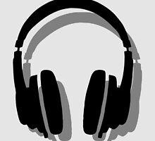 Headphones Shadow by theshirtshops