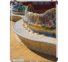 Gaudi's Park Guell Sinuous Curves - Impressions Of Barcelona iPad Case/Skin