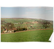 The View from Danby Castle to Oakley Walls Poster