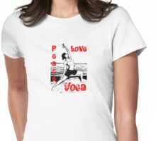 peace, love, yoga Womens Fitted T-Shirt