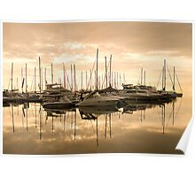 Harbour Dawn for Carolyn Staut Poster