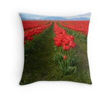 Rows of red Throw Pillow