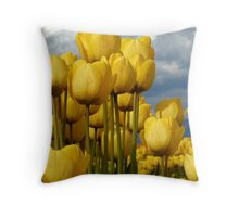 Yellow wonders Throw Pillow