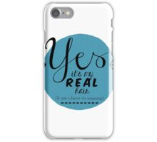 No Wigs Here iPhone Case/Skin