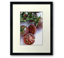 Chocolate Cherry Tomatoes Framed Print