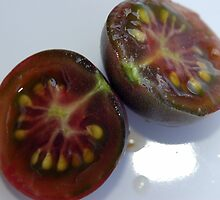 Inside the Chocolate Cherry Tomato by DiEtte Henderson