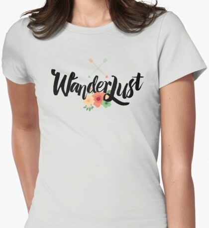 Wanderlust 02 lettering Womens Fitted T-Shirt