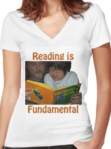 Reading is Fundamental/Goodnight Bush Women's Fitted V-Neck T-Shirt